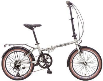"119946 2 350x273 - Велосипед NOVATRACK 20"" AURORA 3,6, складной, серебристый, Shimano 6 speed, TY21/RS35/SG-6SI #119946, рама - 12"""