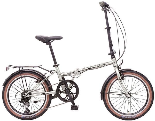 "119946 2 - Велосипед NOVATRACK 20"" AURORA 3,6, складной, серебристый, Shimano 6 speed, TY21/RS35/SG-6SI #119946, рама - 12"""