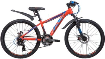 """133998 2 350x198 - Велосипед NOVATRACK 24"""" EXTREME 21,D alloy, алюм,рама 13"""" оранжевый, 21-скор, TY300/TS38/TZ500, диск,торм,STG, рама - 13"""""""