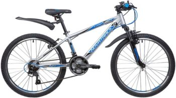 "134015 2 350x195 - Велосипед NOVATRACK 24"" LUMEN 18,V, алюм,рама 13"", серебристый, 18-скор, TY21/TS38/SG-6SI, V-brake, рама - 13"""