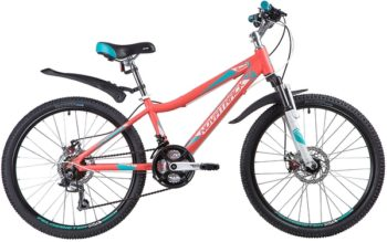 "134031 2 350x219 - Велосипед NOVATRACK 24"" NOVARA 18,D, алюм,рама 13"", коралловый, 18-скор, TY21/TS38/SG-6SI, диск,торм,STG, рама - 13"""