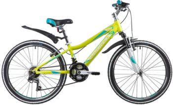 "134032 2 350x212 - Велосипед NOVATRACK 24"" NOVARA 18,V, алюм,рама 11"", лаймовый, 18-скор, TY21/TS38/SG-6SI, V-brake, рама - 11"""