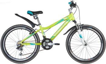 "134033 2 350x213 - Велосипед NOVATRACK 24"" NOVARA 18,V, алюм,рама 13"", лаймовыйй, 18-скор, TY21/TS38/SG-6SI, V-brake, рама - 13"""