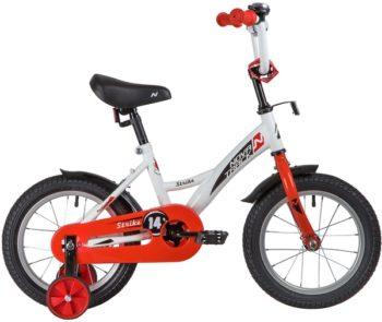 "139626 2 350x295 - Велосипед NOVATRACK 14"" STRIKE белый-красный, тормоз нож, крылья корот, полная защ,цепи, рама - 9"""