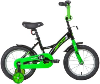 "139627 2 350x294 - Велосипед NOVATRACK 14"" STRIKE чёрный-зелёный, тормоз нож, крылья корот, полная защ,цепи, рама - 9"""