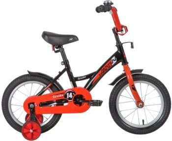 "139628 2 350x286 - Велосипед NOVATRACK 14"" STRIKE чёрный-красный, тормоз нож, крылья корот, полная защ,цепи, рама - 9"""