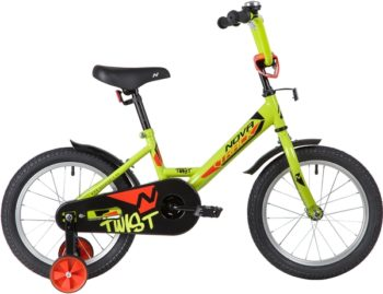"139644 2 350x269 - Велосипед NOVATRACK 16"" TWIST зеленый, тормоз нож, крылья корот, полная защ,цепи, рама - 10,5"""
