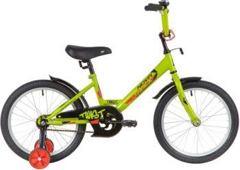 "139673 2 350x249 - Велосипед NOVATRACK 18"" TWIST зелёный, тормоз нож, крылья корот, защита А-тип, рама - 11,5"""