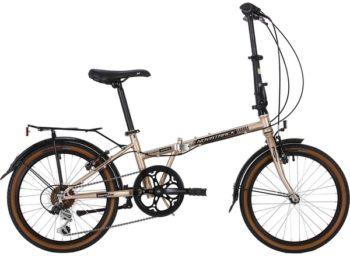 """139717 2 350x256 - Велосипед NOVATRACK 20"""" AURORA 3,6, складной, сталь, золотой, Shimano 6 скор,, TY21/RS35/SG-6SI, рама - 12"""""""