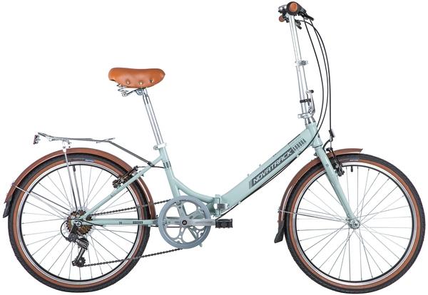 """139718 2 - Велосипед NOVATRACK 24"""" AURORA 3,6, складной, сталь, голубой, Shimano 6 скор,, TY21/RS35/SG-6SI, рама - 14,5"""""""