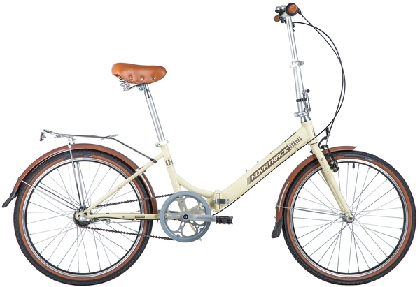 """139719 2 - Велосипед NOVATRACK 24"""" AURORA 3,3, складной, сталь, бежевый, 3 скор,, Shimano NEXUS, рама - 14,5"""""""