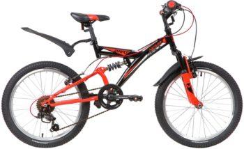 "139722 2 350x214 - Велосипед NOVATRACK 20"" DART 6,V, черный, сталь, 6 скор,, TY21/RS35/SG-6SI, Shimano, рама - 13"""