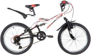 "139723 2 350x214 - Велосипед NOVATRACK 20"" DART 6,V, белый, сталь, 6 скор,, TY21/RS35/SG-6SI, Shimano, рама - 13"""