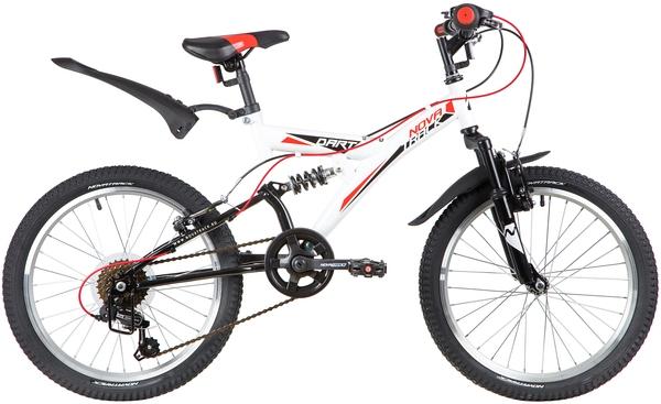 "139723 2 - Велосипед NOVATRACK 20"" DART 6,V, белый, сталь, 6 скор,, TY21/RS35/SG-6SI, Shimano, рама - 13"""