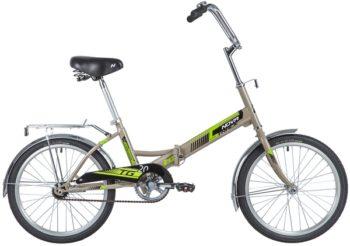 "139738 2 350x246 - Велосипед NOVATRACK 20"" TG-20 classic 1,0, складной, серый, тормоз нож, ALобода, сид,и руль комфорт, багажник, рама - 14"""