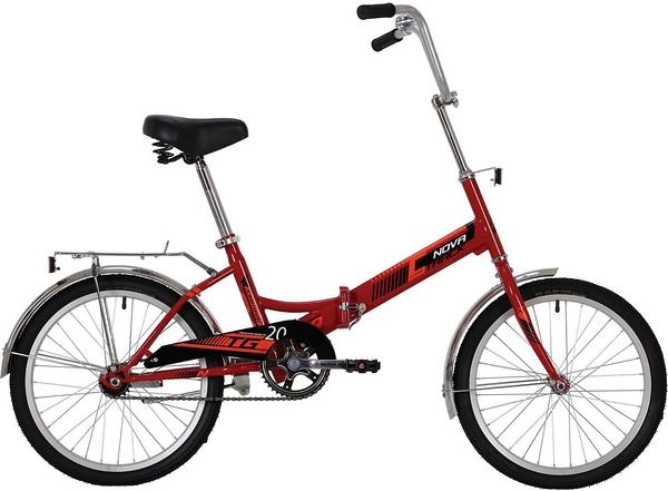 """139739 2 - Велосипед NOVATRACK 20"""" складной, TG-20 classic 1,0, красный, тормоз нож, AL обода, багажник, рама - 14"""""""