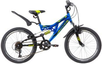 "139750 2 350x219 - Велосипед NOVATRACK 20"" SHARK 6,V, синий, сталь, 6 скор,, Microshift, Power, V-brake, рама - 12"""