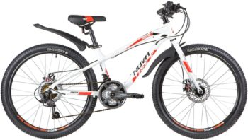 "139755 2 350x198 - Велосипед NOVATRACK 24"" PRIME 18,D, алюм,рама 13"", белый, 18 скор,, SHIMANO, дисковый тормоз, рама - 13"""