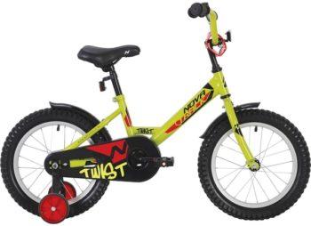 """140633 2 350x254 - Велосипед NOVATRACK 12"""" TWIST салатовый, тормоз нож,, корот,крылья, полная защита цепи, рама - 8,5"""""""