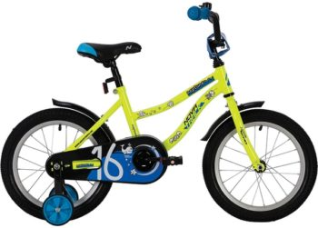 "140638 2 350x251 - Велосипед NOVATRACK 12"" NEPTUNE салатовый, полная защита цепи, тормоз нож,, корот крылья, нет багажн, рама - 8,5"""