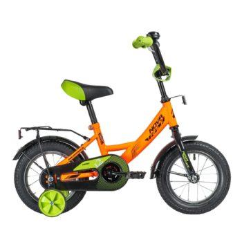 """140640 2 350x350 - Велосипед NOVATRACK 12"""" VECTOR оранжевый, тормоз нож,, крылья и багажник чёрн,, полная защита цепи, рама - 8,5"""""""