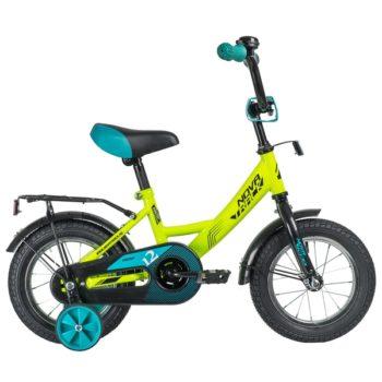 """140641 2 350x350 - Велосипед NOVATRACK 12"""" VECTOR салатовый, тормоз нож,, крылья и багажник чёрн,, полная защита цепи, рама - 8,5"""""""