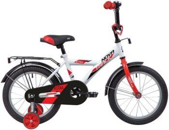 """140644 2 350x268 - Велосипед NOVATRACK 12"""" ASTRA белый, тормоз нож, крылья и багажник чёрн, полная защита цепи, рама - 8,5"""""""