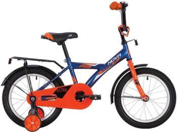 """140646 2 350x261 - Велосипед NOVATRACK 12"""" ASTRA синий, тормоз нож, крылья и багажник чёрн, полная защита цепи, рама - 8,5"""""""