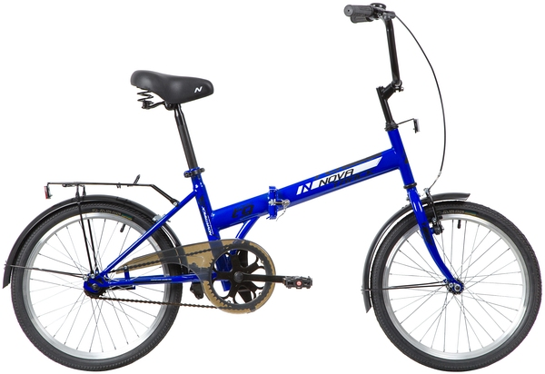 """140673 2 - Велосипед NOVATRACK 20"""" TG-20 classic 2,1 складной, синий, тормоз 1 руч, и нож,,двойной обод,, рама - 14"""""""