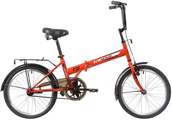 """140674 2 - Велосипед NOVATRACK 20"""" TG-20 classic 2,1 складной, красный, тормоз 1 руч, и нож,,двойной обод,, рама - 14"""""""
