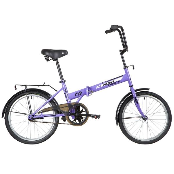 """140676 2 - Велосипед NOVATRACK 20"""" TG-20 classic 1,1, складной, фиолетовый, тормоз нож,двойной обод,сид,и руль комфор, рама - 14"""""""