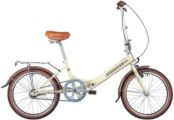 "140678 2 - Велосипед NOVATRACK 20"" AURORA 3,3, складной, бежевый, Shimano Nexus 3 speed, рама - 12"""