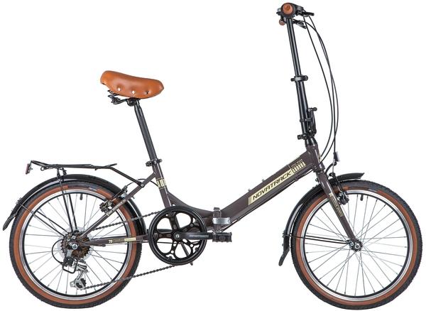 """140680 2 - Велосипед NOVATRACK 20"""" AURORA 3,6, складной, коричневый, Shimano 6 speed, TY21/RS35/SG-6SI, рама - 12"""""""