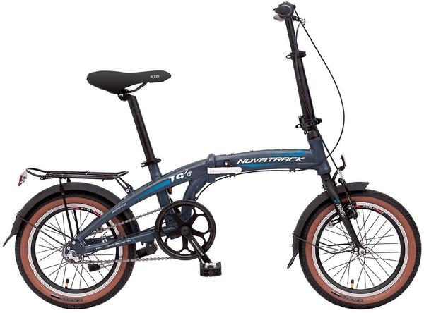 """140681 2 - Велосипед NOVATRACK 16"""" TG-16 alloy 3,3 складной алюм, Nexus 3 speed (алюм пер,вилка, алюминиевый вынос), рама - 10"""""""