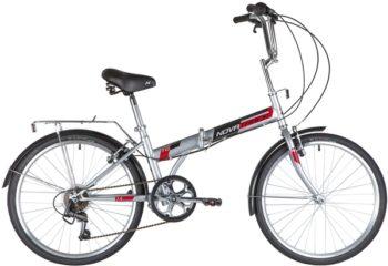 "140687 2 350x240 - Велосипед NOVATRACK 24"" TG-24 classic 3,1 складной, серый, 6скор, Shimano TY-21, тормоз V-brake,,сидение комфорт, , рама - 14,5"""