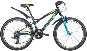 "140694 2 350x204 - Велосипед NOVATRACK 24"" TORNADO 21,V алюм,рама 13"", черный, 21-скор, TY300/TS38/TZ500, V-brake алюм,, рама - 13"""