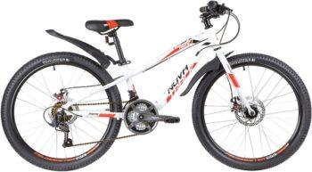 "140696 2 350x193 - Велосипед NOVATRACK 24"" PRIME 18,D алюм,рама 11"", белый, 18-скор, TY21/TS38/SG-6SI, диск,торм,STG, рама - 11"""