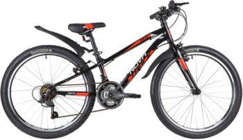 "140698 2 350x202 - Велосипед NOVATRACK 24"" PRIME 18,V алюм,рама 11"", чёрный, 18-скор, TY21/TS38/SG-6SI, V-brake алюм,, рама - 11"""