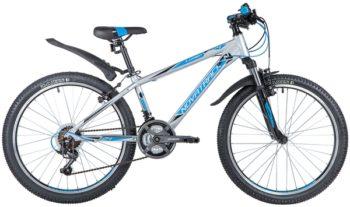 "140707 2 350x207 - Велосипед NOVATRACK 24"" LUMEN 18,V алюм,рама 13"", серебристый, 18-скор, TY21/TS38/SG-6SI, V-brake, рама - 13"""