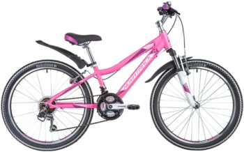 "140711 2 350x218 - Велосипед NOVATRACK 24"" NOVARA 18,V алюм,рама 13"", фуксия, 18-скор, TY21/TS38/SG-6SI, V-brake, рама - 13"""