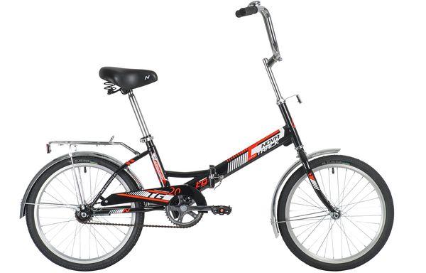 """140921 2 - Велосипед NOVATRACK 20"""" TG-20 classic 1,0, складной, черный, тормоз нож, двойной обод, сидение комфорт и руль, рама - 14"""""""