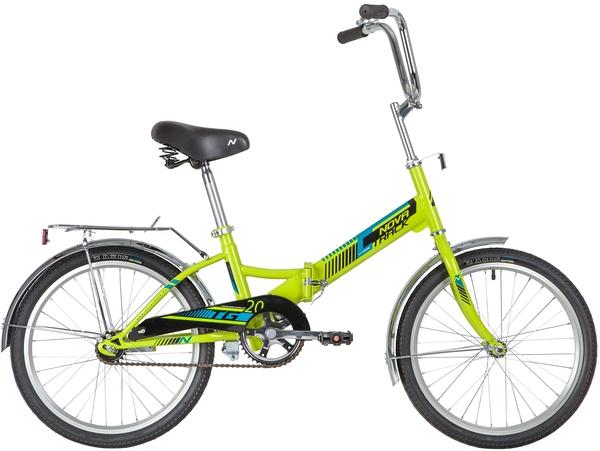 """140922 2 - Велосипед NOVATRACK 20"""" складной, TG-20 classic 1,0, зеленый, тормоз нож, двойной обод, багажник, рама - 14"""""""