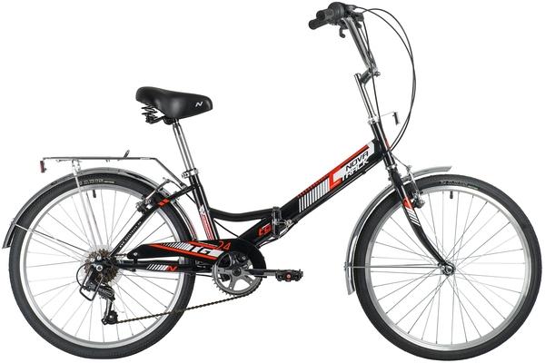 """140926 2 - Велосипед NOVATRACK 24"""" TG-24 classic 3,0 складной, чёрный, 6скор, Shimano TY-21, тормоз 2руч,, рама - 14,5"""""""