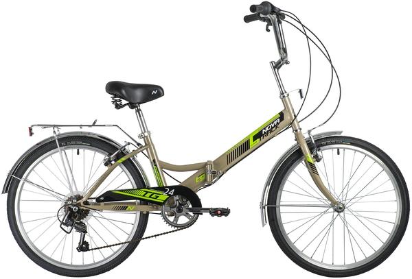 """140930 2 - Велосипед NOVATRACK 24"""" TG-24 classic 3,0 складной, серый, 6скор, Shimano TY-21, торм 2руч,, сидение комфорт, рама - 14,5"""""""