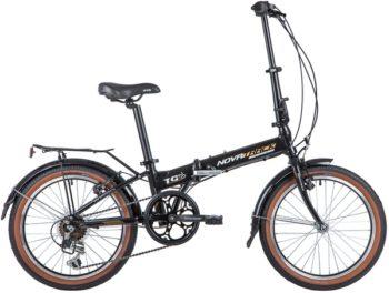 """140931 2 350x264 - Велосипед NOVATRACK 20"""" TG-20 alloy 3,6 складн, алюм,, черный, Shimano 6 speed, стальная вилка, вынос, алюм,руль, рама - 12,5"""""""
