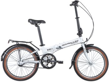 """140932 2 350x264 - Велосипед NOVATRACK 20"""" TG-20 alloy 3,3 складн, алюм, белый, Nexus 3 sp, алюм, вилка, вынос, руль, рама - 12,5"""""""