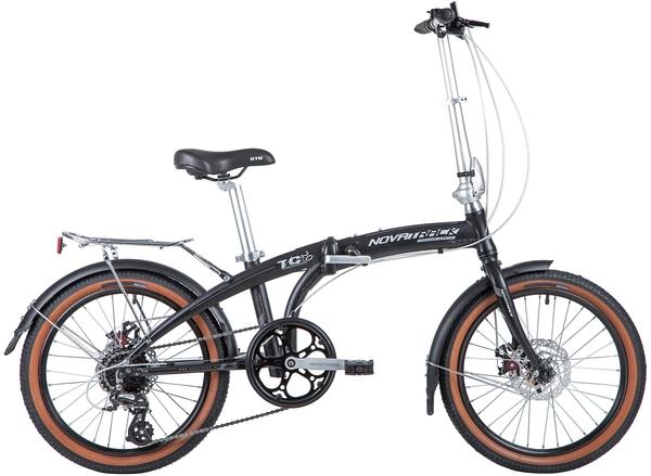 "141393 2 - Велосипед NOVATRACK 20"" TG-20 alloy 3,8D складн, алюм,, чёрный, 8 скор,, RDM310/TS71/HG20,  диск,торм,STG, рама - 12,5"""